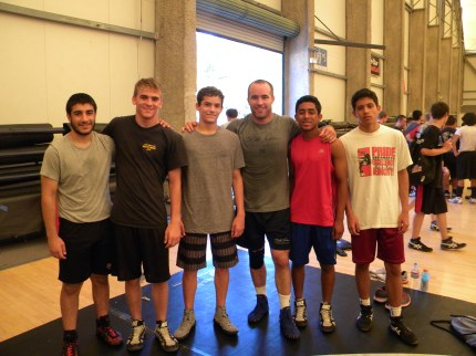 Max, Geoff, Matt, Brandon, and Kian, with 2008 Olympian Andy Hrovat.