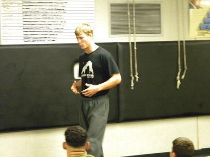 Nate, sharing a story about the hard work him and his teammate, 2012 Olympic Gold Medalist Jake Varner, put in while they were in high school.    Looks like those 3 hr Sat morning practices paid off!