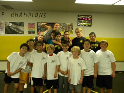 The campers, along with the afternoon counselor crew.