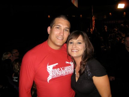 Terry Tuzzalino and wife Desiree, after he competed at a Fire and Police MMA competition.