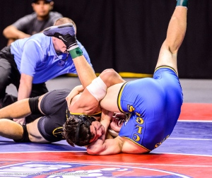 Phillip pinning #4 ranked Matt Weiss of Clovis in the third round of state.