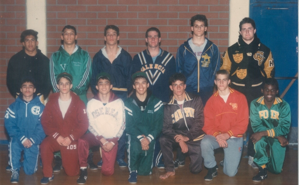 Rex in the Master's Meet champions pic, upper right.  Also pictured are past MMA stars Antonio McKee, Heath Sims, and Dan Henderson.